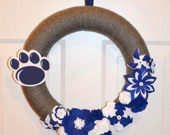 Penn State Yarn Wreath - 14 inches