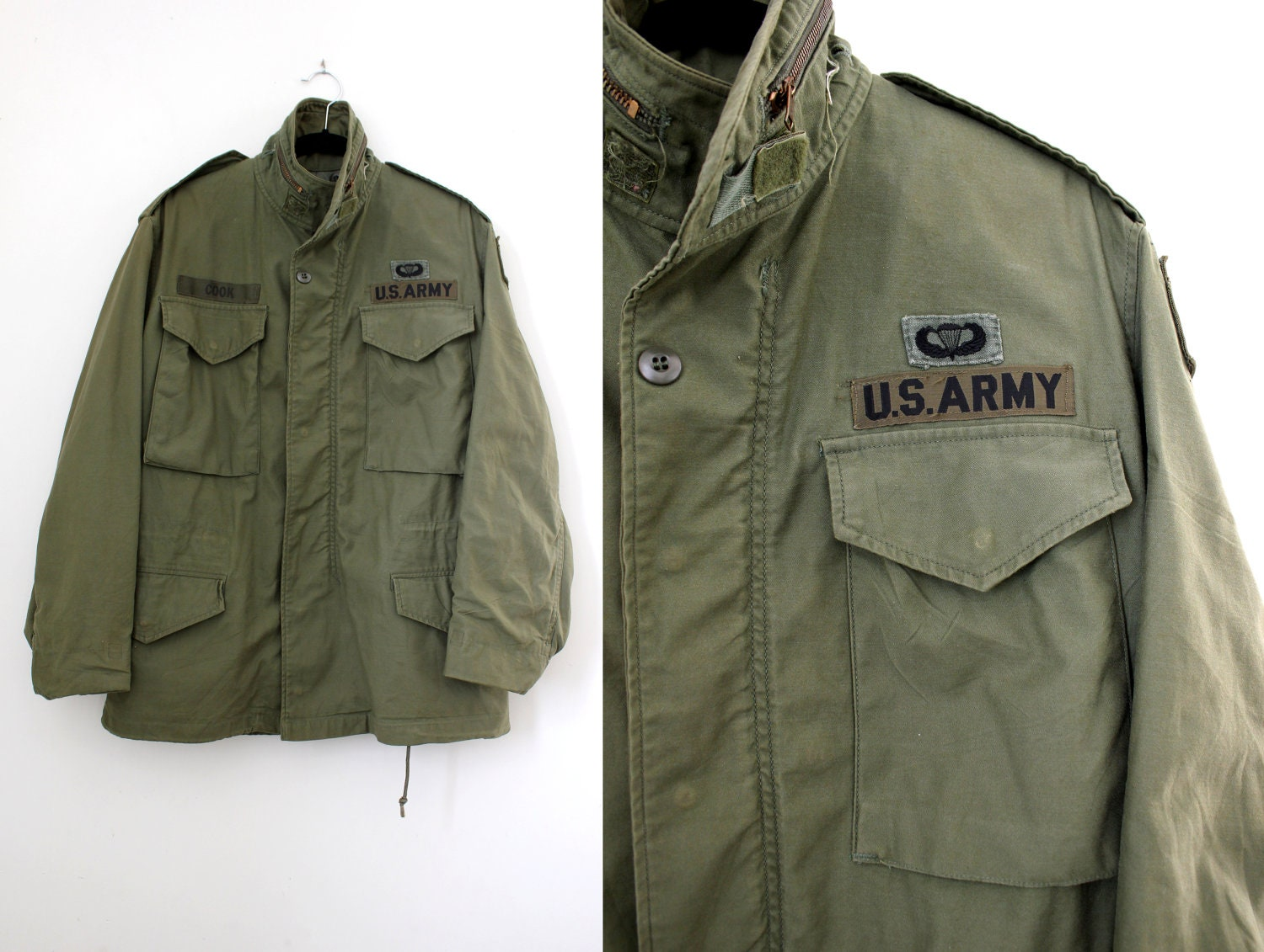 If you are active-duty US Military, please state so when ordering these jackets and we will include a free piece of Velcro for your name tag. It will be placed inside one of the pockets for you to sew onto your jacket.