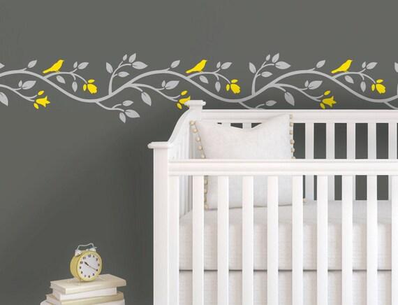 Children Wall Decal Yellow Gray Nursery Pink Gray Nursery