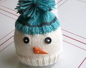 Newborn snowman hat- ready to ship- winter baby photo prop
