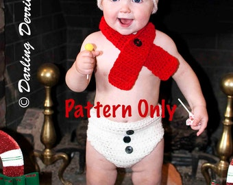 PDF Instant Download Baby Snowman Scarf Crochet Pattern