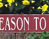 primitive Christmas sign....Tis the season to be jolly...long, doortop size