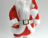 Santa Claus doll figure wind-up semi-animated musical plays Jingle Bells Christmas kitsch retro decoration new old stock original box c 1960