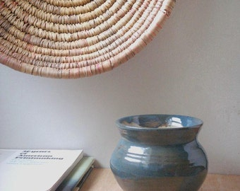 vintage pottery vase, studio pottery, planter