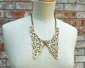 Gold Metal Collar Necklace
