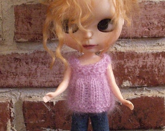 Double Knit  Mohair Sweater Tops  For Blythe