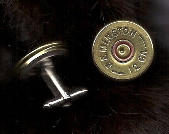 cuff links- mens shot gun shell cuff link- Bullet