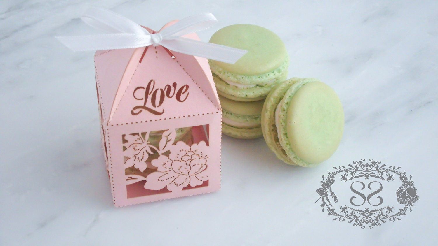 Wedding Favors Macaron Favor Wedding Love Favor Box And 2