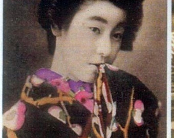 Geisha Collage Sheet - Japanese, Collage, Decoupage, Mixed Media