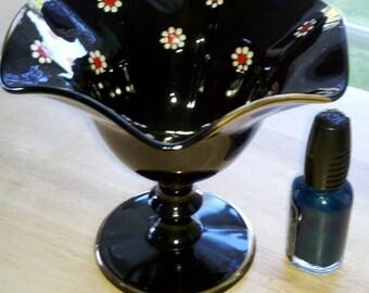 Black Amethyst Candy Dish