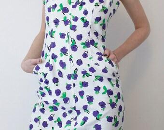 sale +++Guy Laroche 60 s Mini Dress all over flower Print