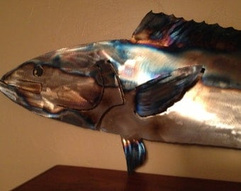 Metal sculpture of Ocean fish