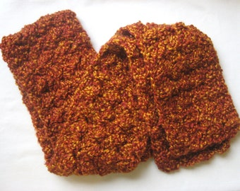 Flames Crocheted Snuggly Scarf