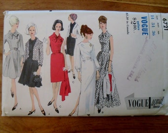 1970's Evening Dress and Jacket Pattern Vogue 6721