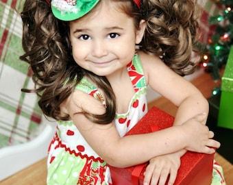Mini Top Hat Headband, Christmas Headbands Baby Girl, Christmas Photo Props, Holiday Headband Hat Fascinator