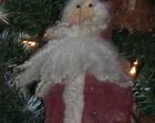 Folkart Santa Ornament