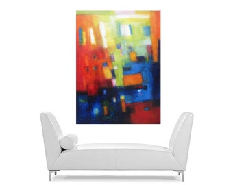 large Abstract oil on canvas original art painting abstracts on canvas
