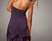 Dress - Sleeveless and backless Forest Pixie Dress - burning man festival - boom festival dress - women clothing - Dresses