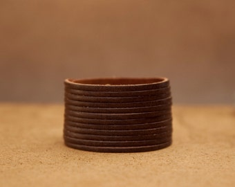 Chocolate Brown Multi-strand Women's Leather Cuff Bracelet