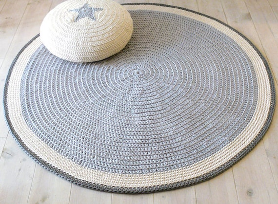 plancher de tapis rond au crochet 100cm par lacasadecoto sur etsy. Black Bedroom Furniture Sets. Home Design Ideas