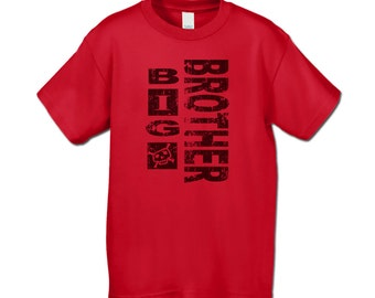 Big Brother Shirt - Grunge Big Brother T-Shirt for Tweens, Teens, Adults  (Distressed Graphic)  - Pregnancy Announcement Shirt