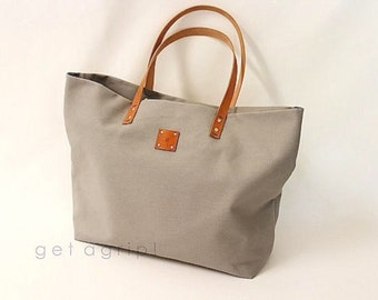Canvas Tote... SPECIALIZED LABEL...GRAY tote bag
