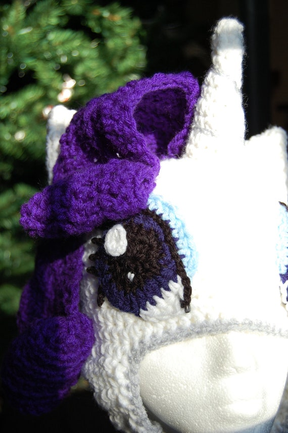 rarity my little pony crochet beanie hat by twistsofenvy