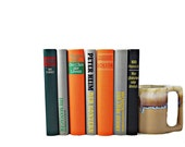 ORANGE & GRAY - GERMAN Book Collection Set, Decorative Books, Black, Wedding Decor,  Home LIbrary, Interior Design, stack, interior design - HucksterHaven
