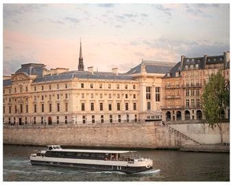 Paris photography, Paris architecture art print, city landscape print, large wall art, neutral beige living room decor, paris 11x14, 16x20