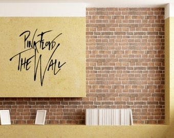 Pink Floyd The Wall  Wall Decal Stickers Wall Decals Sticker Home Decor Office Decor