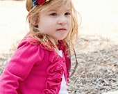 Fall Felt Flowers Rose Buds Headband - Perfect for Baby girls, Kids, and Adults