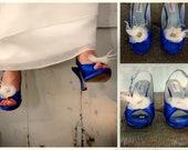 White Shoe Clips. Bride Bridal Wardrobe Shoe Accessory, Ivory Navy Blue Yellow Tangerine Wedding Season, Spring Gift Her Fashion Shoe Pin