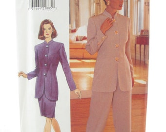 Butterick 4086 Easy Sew Jacket and Pencil Skirt Sewing Pattern Bust 40-44 Womens Suit