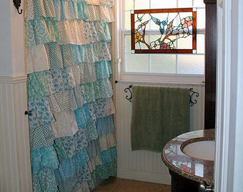 Custom Ruffled Curtains   Patchwork Style Starting At: