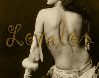 MATURE... Divine Beauty... Instant Digital Download... Vintage Nude Photo... 1920's Erotic Image by Lovalon
