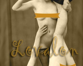 MATURE... Esclaves D'amour... Deluxe Erotic Art Print... Vintage Nude Fetish Photo... Available In Various Sizes