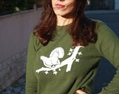 70s/80s Green Sweater / Vintage Knit Sweater / 1970s Pullover / Winter Fashion