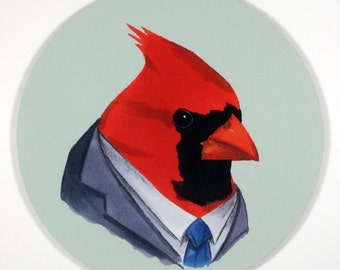 Cardinal Mouse Pad art by the Ryan Berkley Illustration oh yeah mousepad