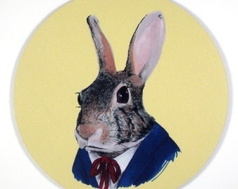 Hare Bunny Rabbit Mouse Pad art by the Ryan Berkley Illustration oh yeah mousepad