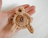 Pug Butt Keychain or Ornament for Pug Lovers