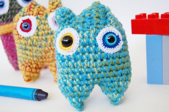 Baby Blues Micro Mini Monster OOAK Crochet Amigurumi Plush