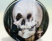All Is Vanity Skull Pocket Mirror