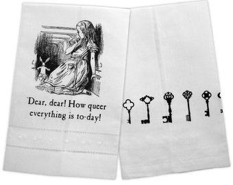Alice, Dear Dear LinenTea Towel tartx wonderland