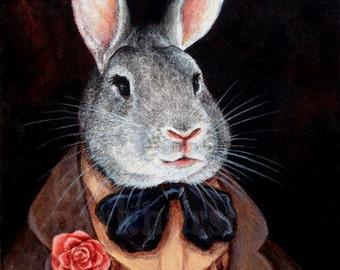 Chinchilla Rabbit Signed Print 'Bigby'