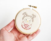 Little Owls at Christmas - Holiday Bird Embroidery Pattern