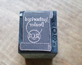 Authorized RCA Dealer Antique Letterpress Printers Block