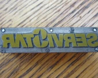 ServiStar Logo Vintage Letterpress Printers Block
