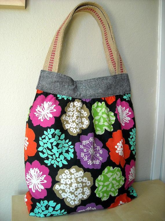 SALE - Big Flower - Everyday Bag
