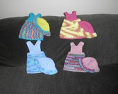 AMERICAN GIRL DOLL crocheted doll clothes, dress and matching hat - Group 1