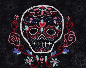 Calavera Embroidery Pattern PDF download hand embroidery patterns designs